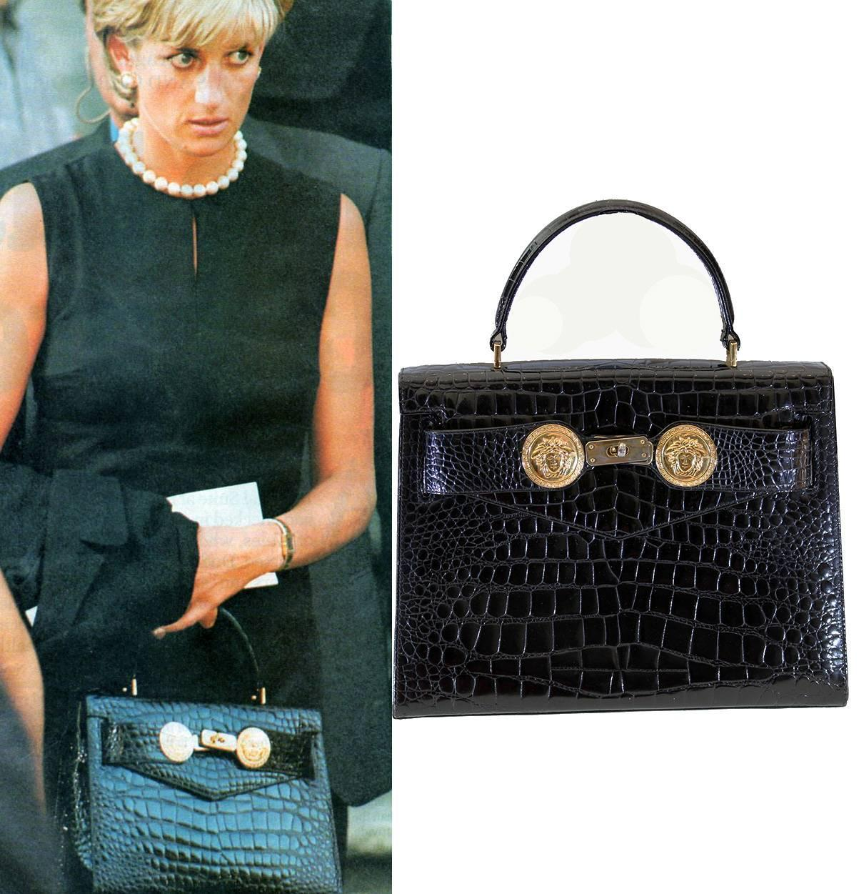 RARE AND COLLECTIBLE GIANNI VERSACE COUTURE BAG Princess Diana owned the  same! at 1stdibs 88c0c7a135