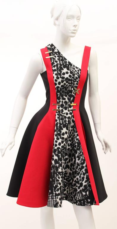 Versace color-block dress 2