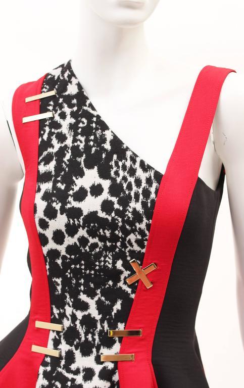 Versace color-block dress 6