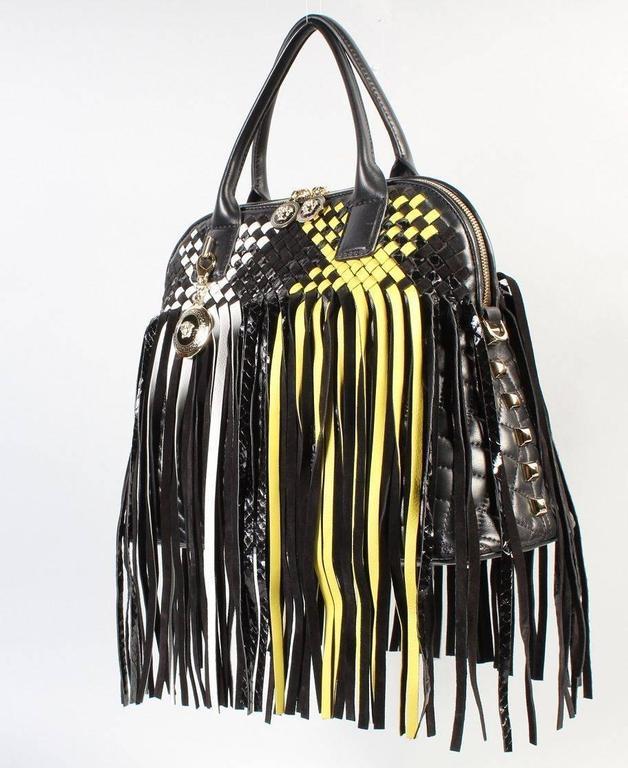 297fb40b0f8 VERSACE LARGE FRINGED VANITAS HANDBAG SHOULDER BAG New w/ Tags For Sale 2