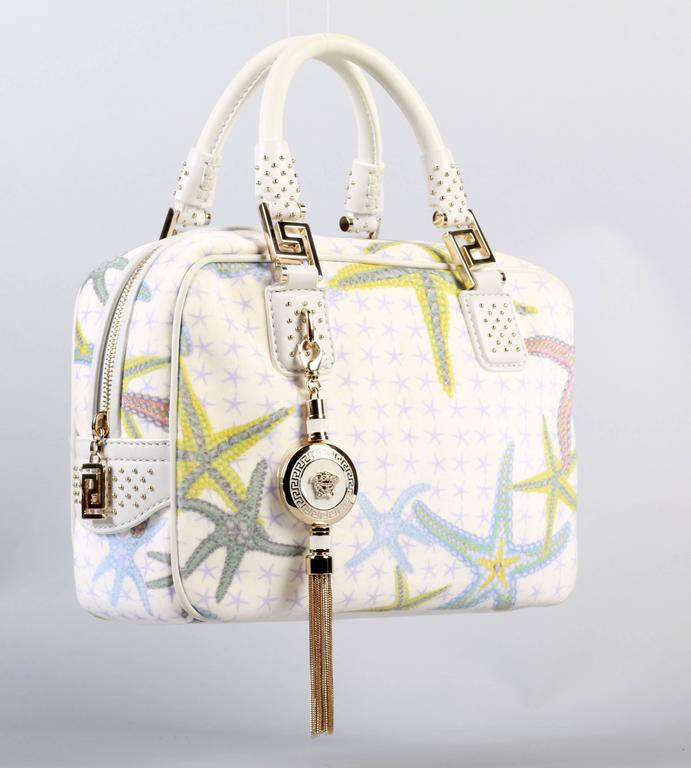 New Versace Starfish Print Tote Bag At 1stdibs