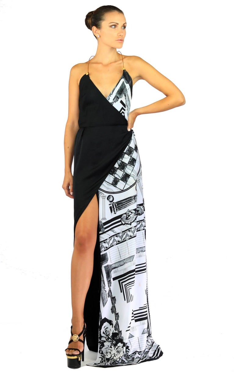 06b47812191 Versace VERSUS + Anthony Vaccarello iconic print maxi dress 100% Polyester  Fully lined Made in