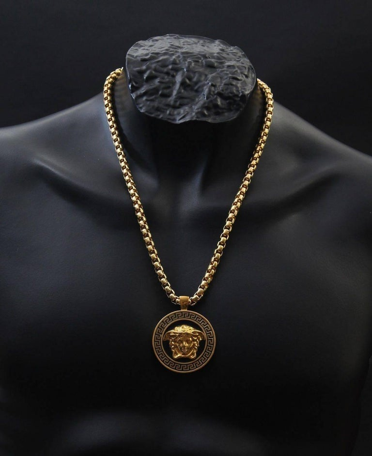 0696f51aef Versace Gold Medusa Medallion Chain Necklace as worn by Bruno Mars For Sale  1
