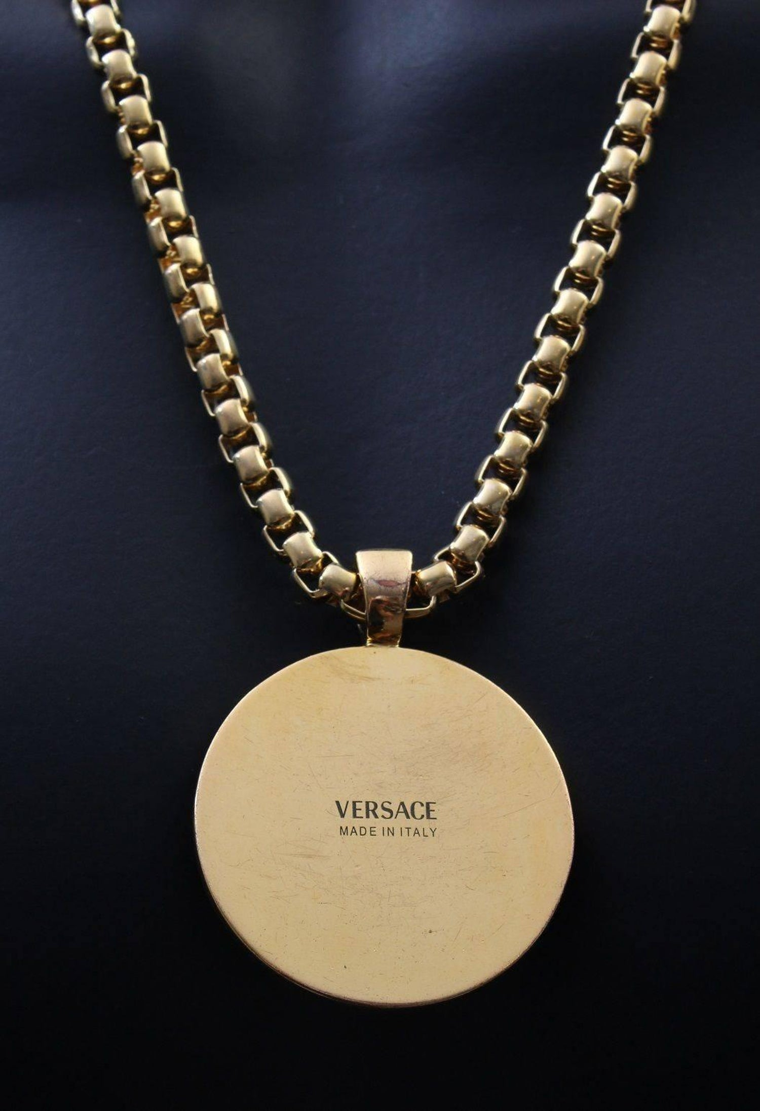 3a1c6c26f0 Versace Gold Medusa Medallion Chain Necklace as worn by Bruno Mars at  1stdibs