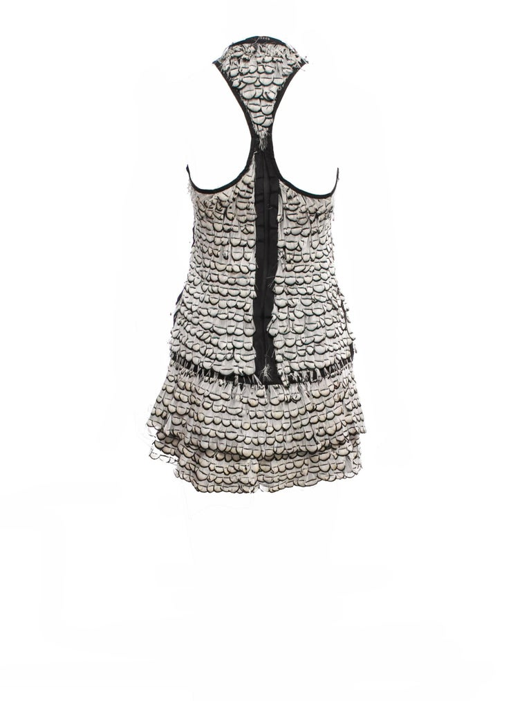 Women's Tom Ford For Gucci Feather Dress, S / S 2003   For Sale