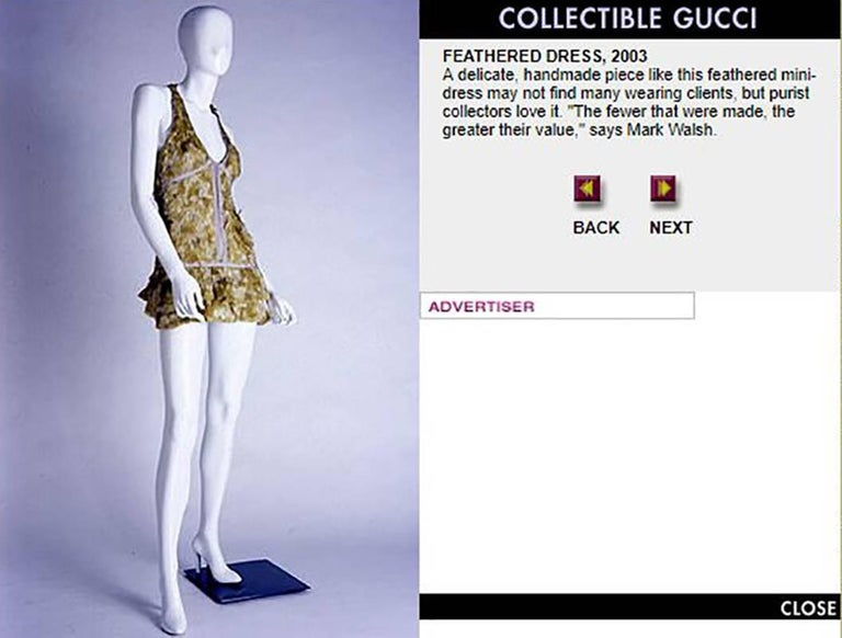 Tom Ford For Gucci Feather Dress, S / S 2003   For Sale 1