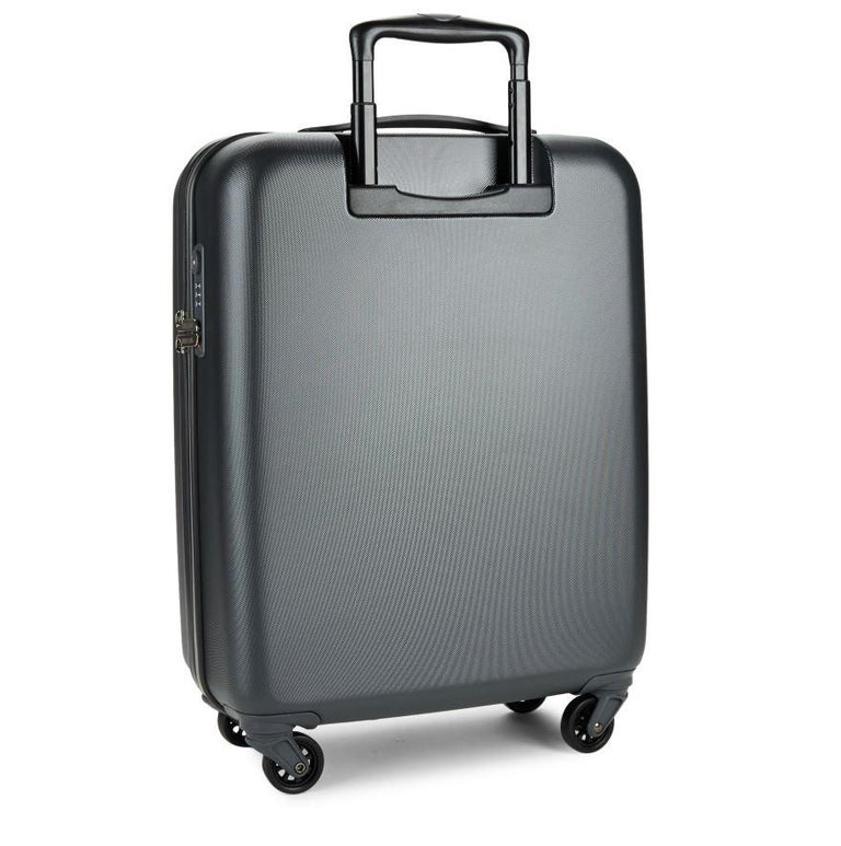 NEW ROBERTO CAVALLI SUITCASE in PLATINUM and BLACK In New Condition For Sale In Montgomery, TX