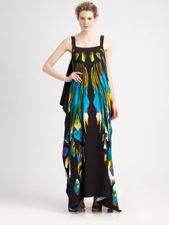 New ETRO EXOTIC & LUXURIOUS BUTTERFLY KAFTAN GOWN DRESS 7