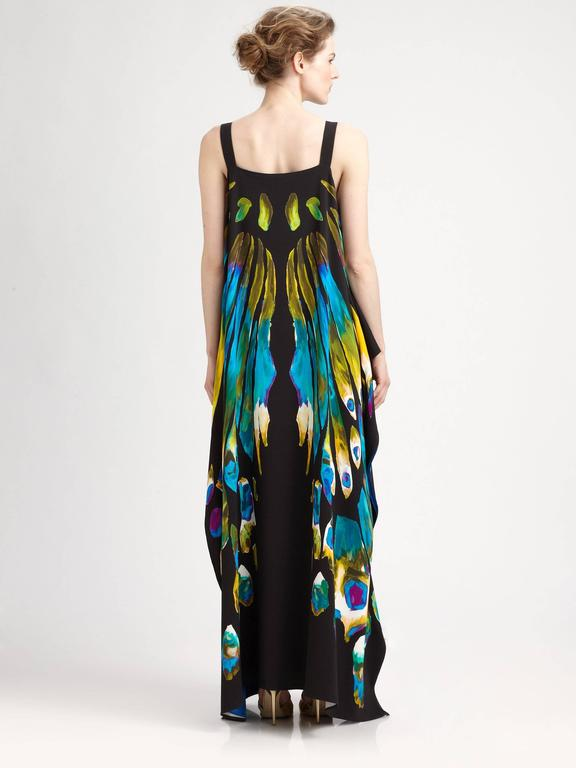 New ETRO EXOTIC & LUXURIOUS BUTTERFLY KAFTAN GOWN DRESS 8