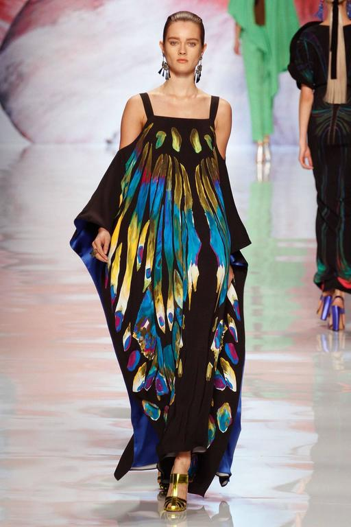 New ETRO EXOTIC & LUXURIOUS BUTTERFLY KAFTAN GOWN DRESS 6