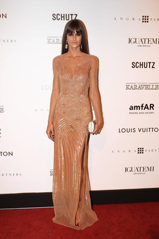 New VERSACE Fully Embroidered Nude Tulle Gown 2