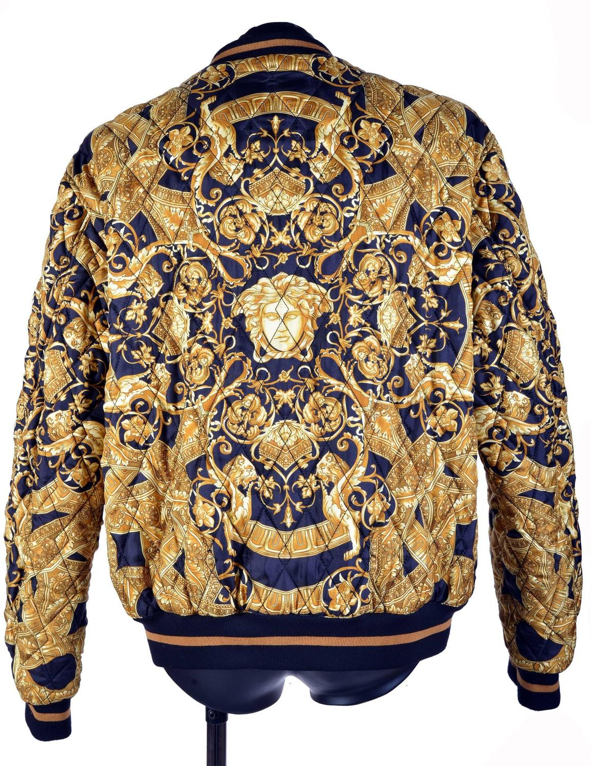 35th Anniversary Versace Quilted Silk Bomber Jacket For