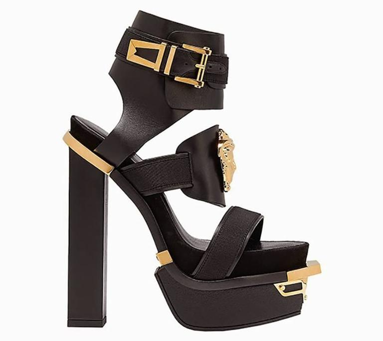 "New VERSACE ""Idol"" Platform Sandals 36 2"