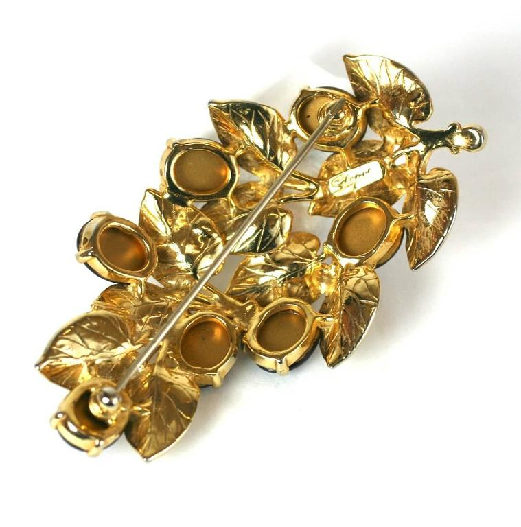Schiaparelli Berry Branch Brooch 4