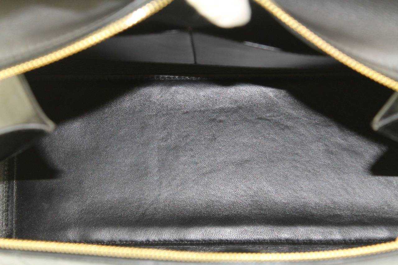 C¨¦line Navy Black Ostrich Leather Edge Blue Tote Bag For Sale at ...