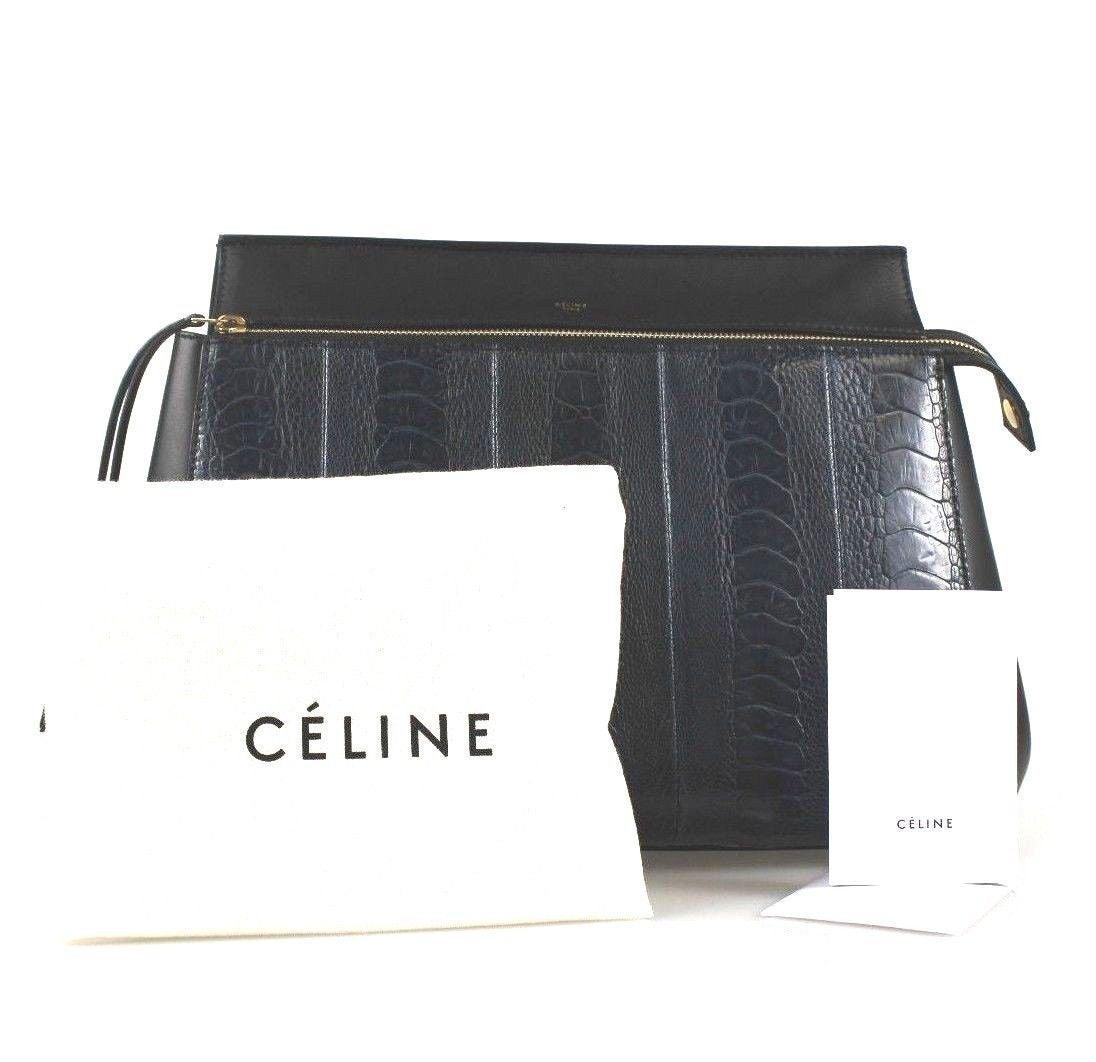 celine brown leather handbag edge