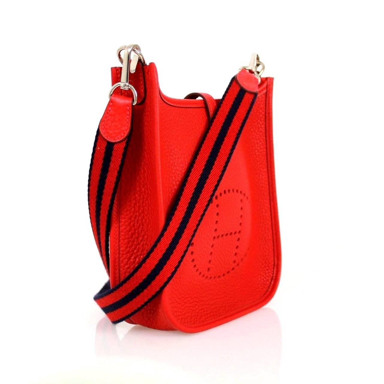 Hermes Red Rougue Casque Clemence Leather 2015 Evelyne III TPM ...