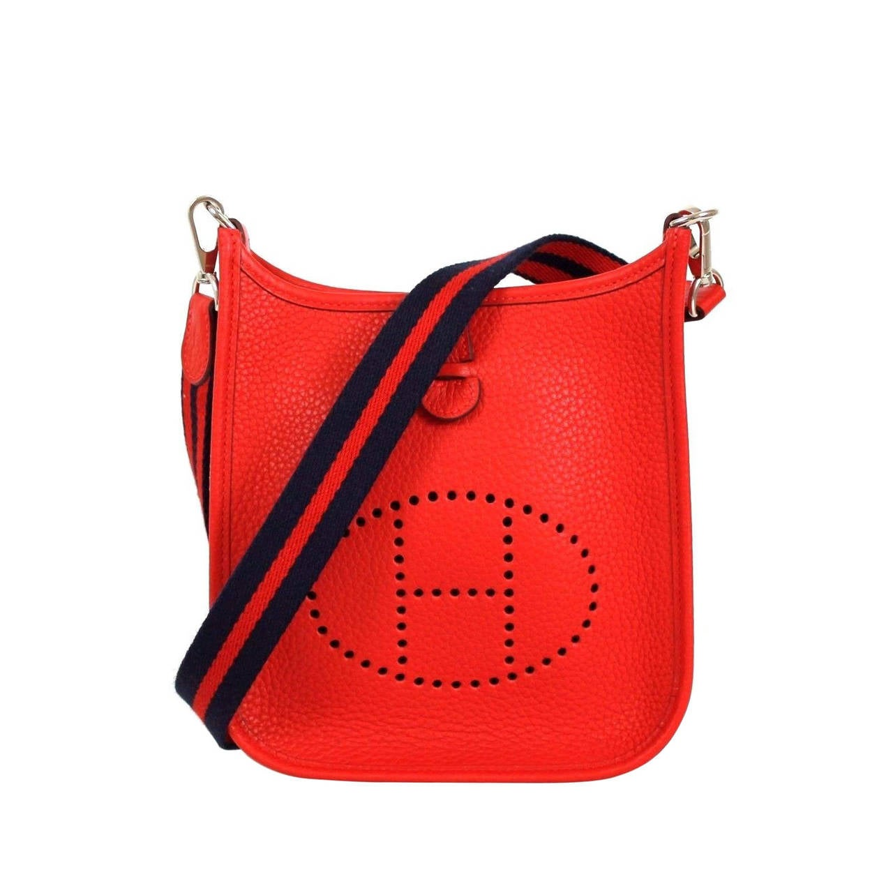 Hermes Red Rougue Casque Clemence Leather 2015 Evelyne Iii
