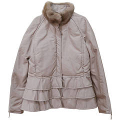 Beautiful Valentino Microfiber and Mink Jacket