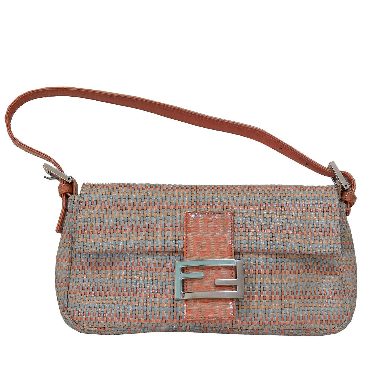 679657e2f98f Beautiful Fendi Woven Leather Baguette Bag For Sale at 1stdibs