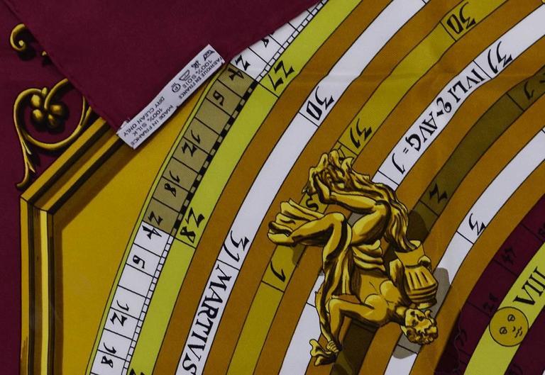 Gorgeous Hermes Dies et Hore Silk Scarf 6