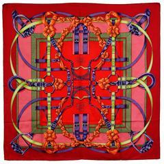Gorgeous Hermes Grand Manege Silk Scarf