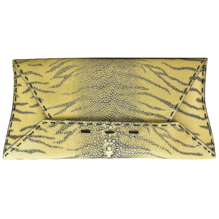 VBH Tiger Shagreen Stingray Clutch