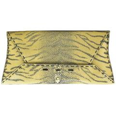 Fabulous VBH Tiger Shagreen (Stingray) Clutch...The Perfect Accessory