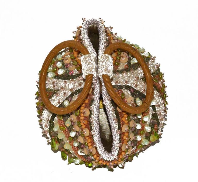 Handmade beaded Bea Valdes Minaudière...great collectors piece in pristine condition.