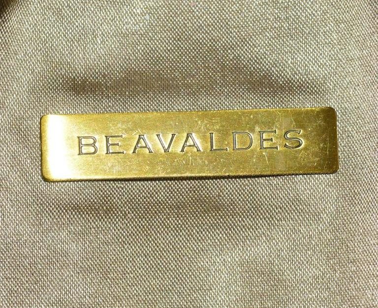 Brown Bea Valdes Handmade Beaded Minaudière For Sale