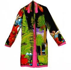 Fabulous Vintage Gianni Versace Silk Print Jacket