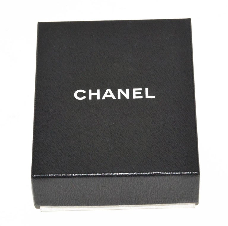 d68e8c340f7 Chanel Silver Link Logo Bracelet In Excellent Condition For Sale In  Teaneck