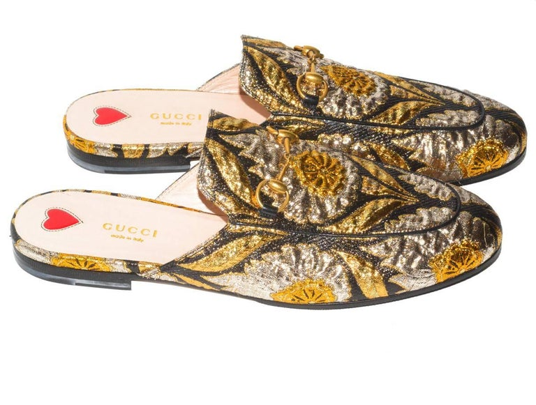 ecde2aa8d3a12 Gucci Embroidered Mules For Sale at 1stdibs