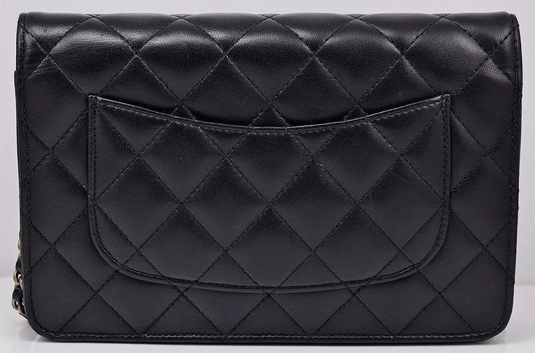 Chanel Quilted Black Wallet on Chain Bag 2
