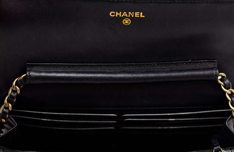 Chanel Quilted Black Wallet on Chain Bag 4