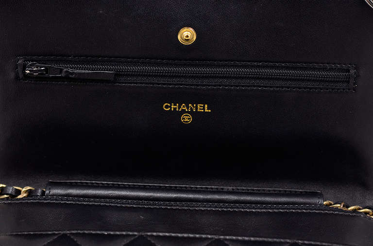 Chanel Quilted Black Wallet on Chain Bag 5