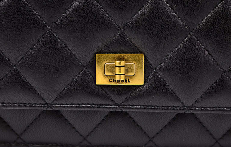 Chanel Quilted Black Wallet on Chain Bag 6