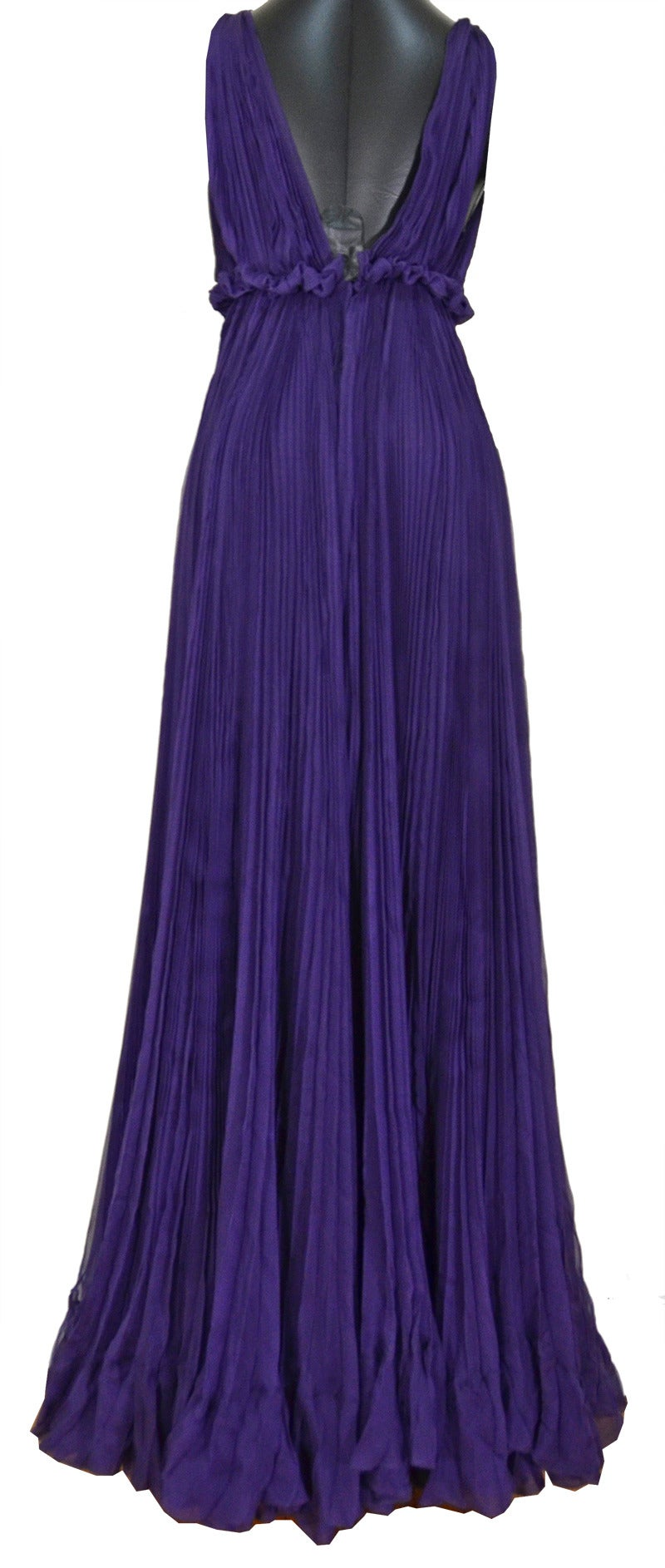 Sexy Yves Saint Laurent Purple Iris Silk Gown 2