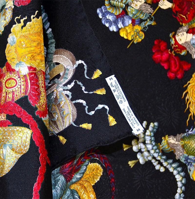 Women's Gorgeous Hermes Les Fetes Du Roi Soleil Silk Scarf For Sale