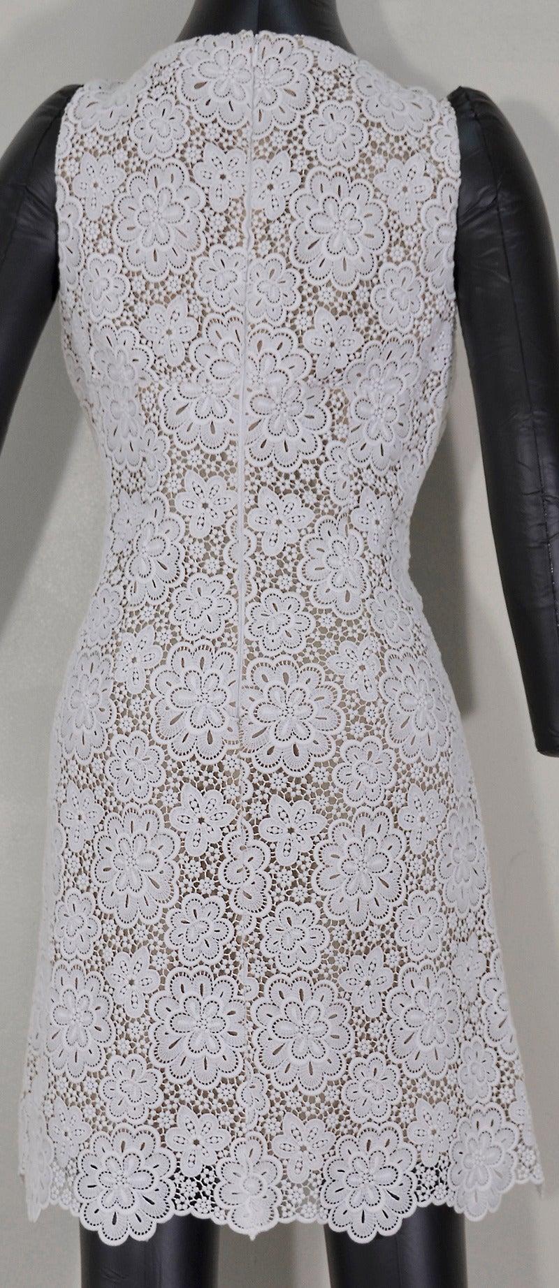 Gray Beautiful Michael Kors Lace Dress For Sale
