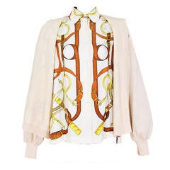Fabulous Vintage Hermes Sweater Blouse Ensemble