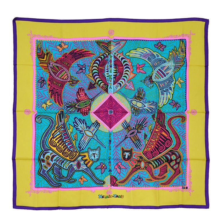 Gorgeous Hermes Silk Scarf For Sale