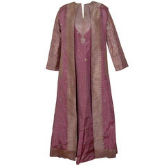 Magnificent Virginia Witbeck Couture Evening Caftan and Coat