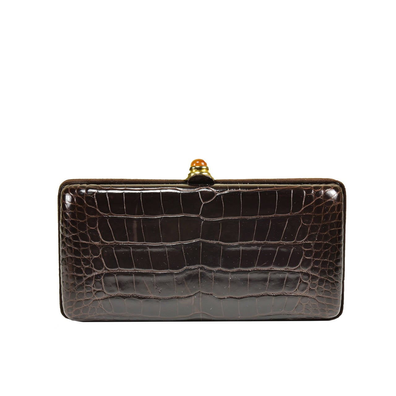 Classic Oscar de la Renta Alligator Clutch For Sale