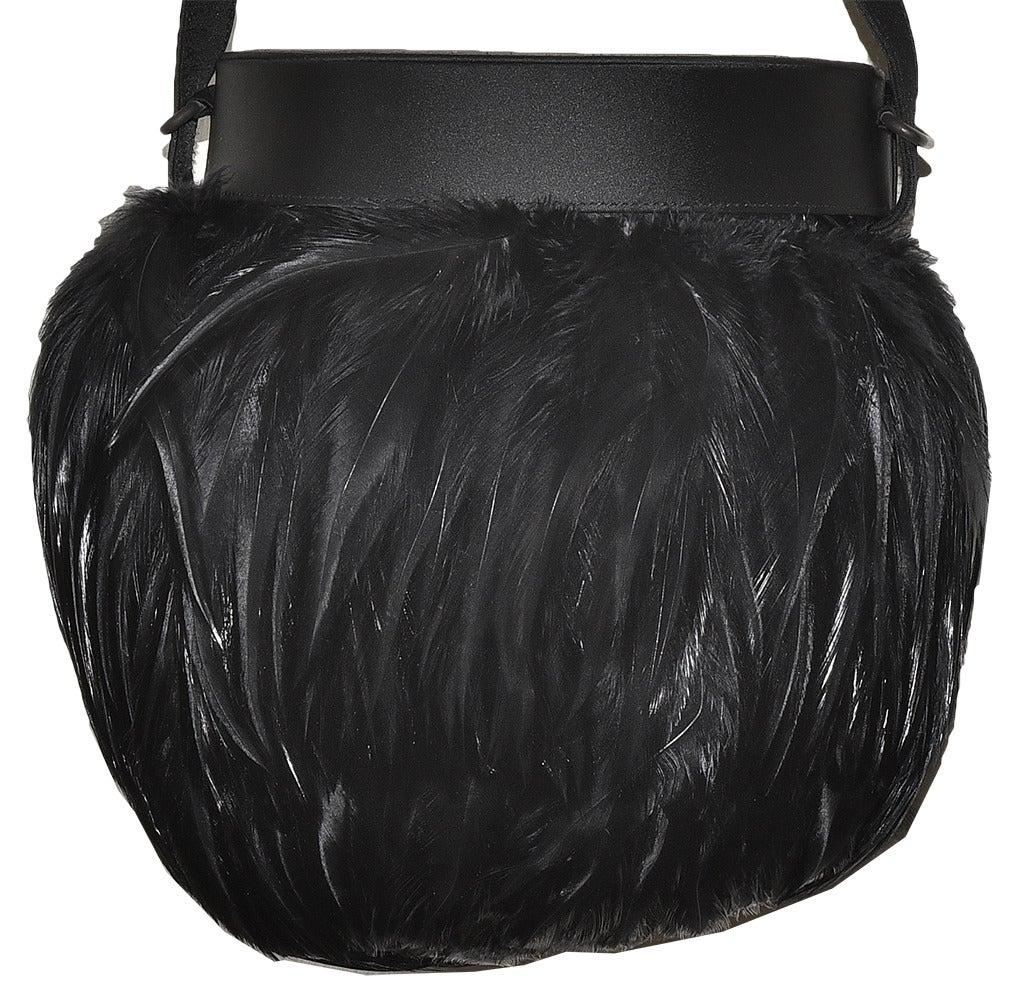 Renaud Pellegrino Rare Vintage Renaud Pellegrino Fantasy Feathers Handbag zToQLuo1