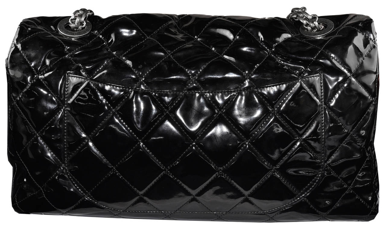 Oversized Chanel patent classic flap bag, 19