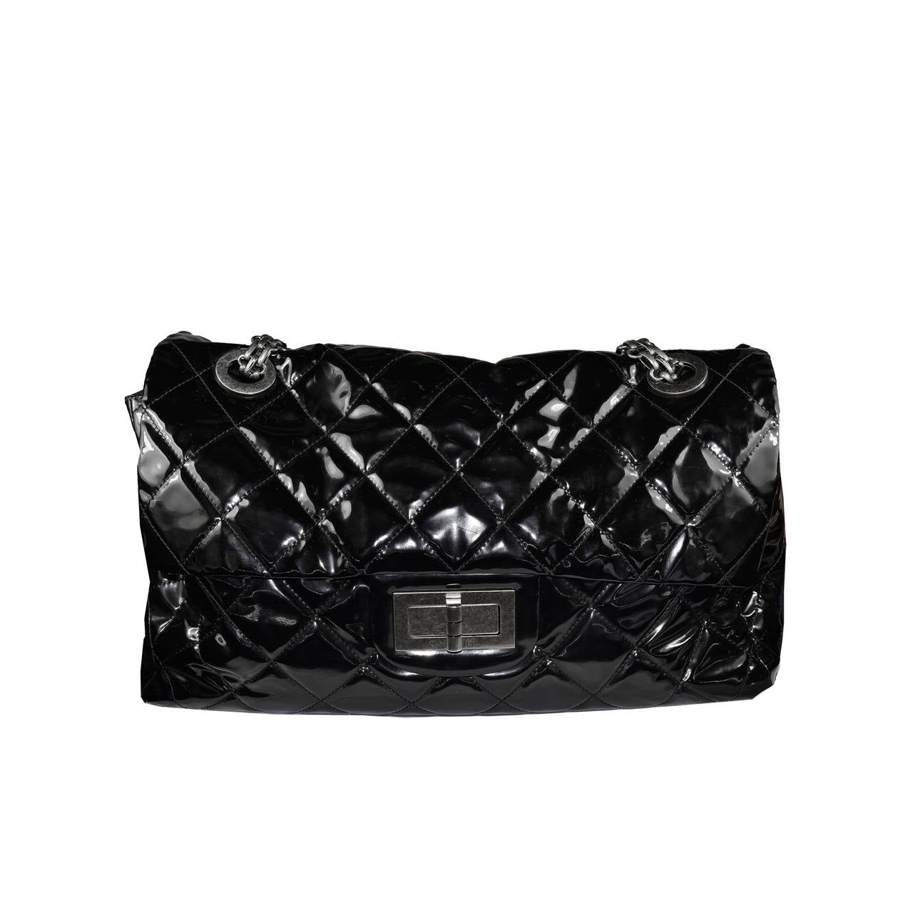 Oversized Chanel Patent Bag For Sale