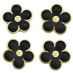 Gorgeous Rare Chanel Flower Buttons