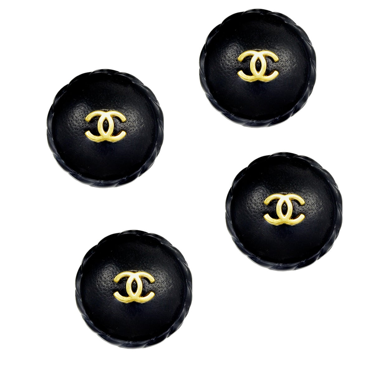 Amazing Chanel Leather Buttons For Sale