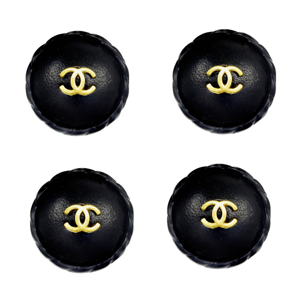 Huge Rare Chanel Leather Buttons 1